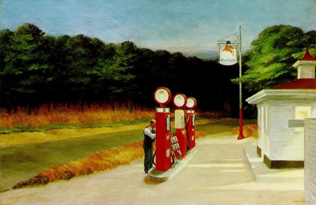 """Gas"" by Edward Hopper"